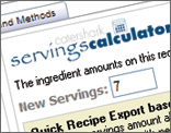 Recipe Servings Calculator